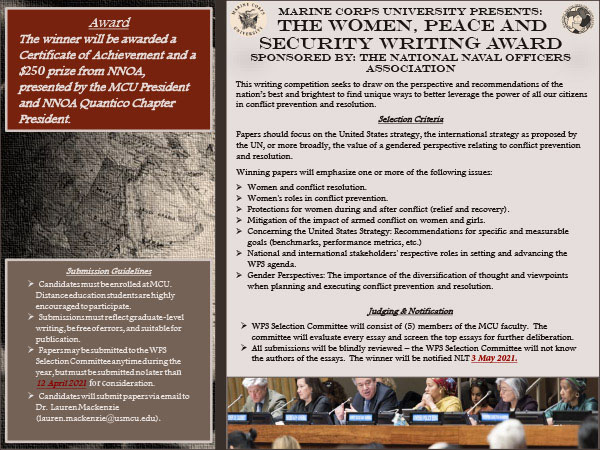The Women, Peace and Security Writing award