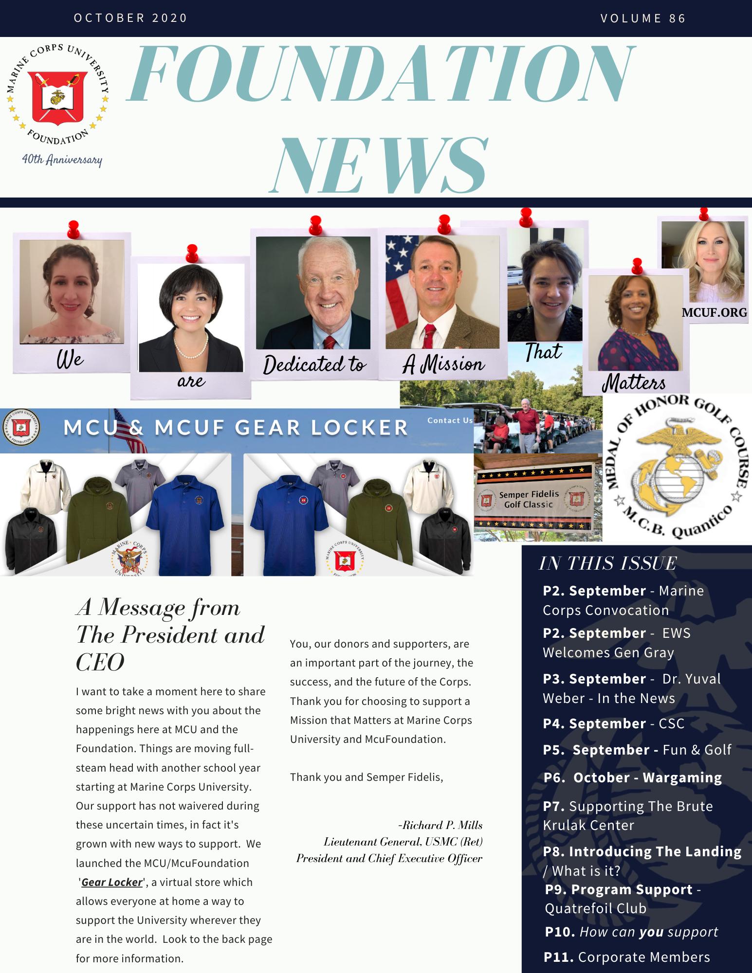 MCUF e-News: Fall 2020