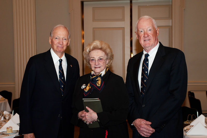 Mr. Thomas A. Saunders III and Mrs. Jordan Horner Saunders and Lieutenant General Richard P. Mills, USMC (Ret.).