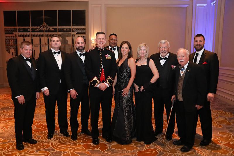 Members of Corporate Sponsor Meggitt pose with LtGen John M. Jansen, USMC.
