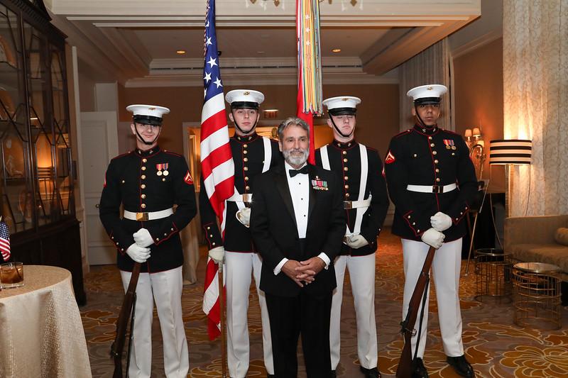 Sgt Maj Jim Booker, USMC (Ret) and USMC Color Guard