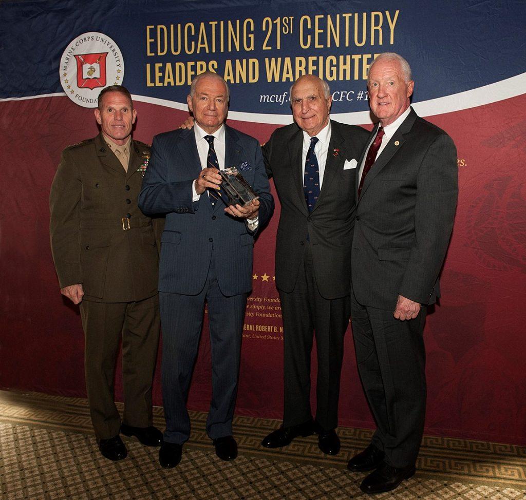 Mr. Ken Langone accepts General John H. Russell Leadership Award