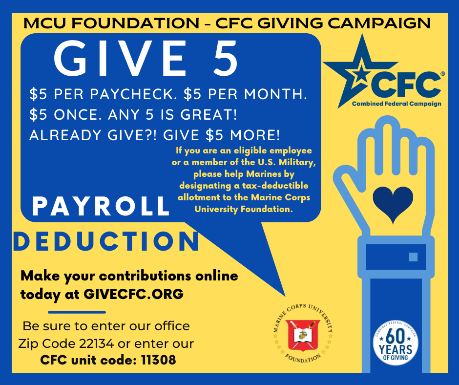Give to MCUF through the CFC!